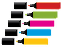 Colorful highlighters Stock Photography
