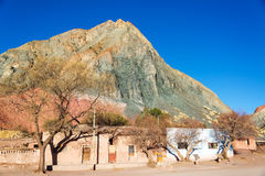 Colorful Hill and Town Plaza Royalty Free Stock Photo