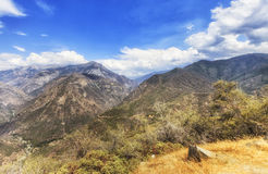 Colorful hills and mountains at King Canyon National Park, USA Stock Images