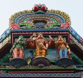 The Colorful Hindu Temple in Bangkok , Thailand stock image