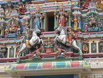 Colorful Hindu temple Royalty Free Stock Photography