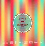 Colorful Hipster blurred background Stock Images