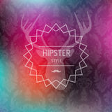 Colorful Hipster blurred background Stock Photography