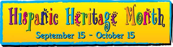 Colorful Hispanic Heritage Month Banner. Hispanic Heritage Month Banner. September 15 through October 15 royalty free illustration