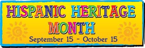 Colorful Hispanic Heritage Month Banner. Hispanic Heritage Month Banner. September 15 through October 15 vector illustration
