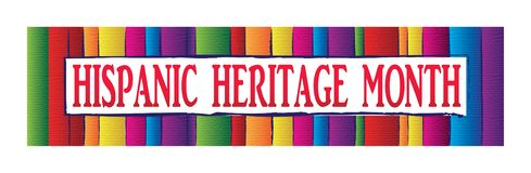 Colorful Hispanic Heritage Month Banner. Hispanic Heritage Month Banner Template. September 15 through October 15 royalty free illustration