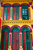 Colorful historic building. In Singapore royalty free stock image