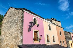 Colorful Building in Mostar, Bosnia. Colorful historic buildings in Mostar, Bosnia and Herzegovina stock photo