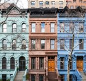 Colorful historic buildings in Manhattan New York City Royalty Free Stock Photography