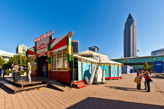 Colorful historic circus tent royalty free stock images