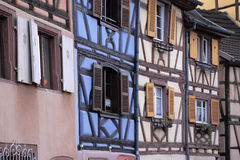 Colorful historic french homes Royalty Free Stock Photography