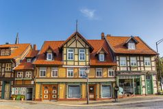 Colorful historic houses in the center of Wernigerode Stock Photography