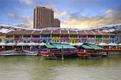 Colorful Historic Houses by River Royalty Free Stock Photo