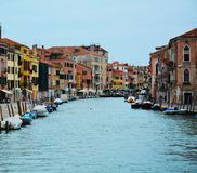 Colorful historical buildings, in Venice, Italy Stock Photos