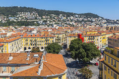Colorful historical houses in Nice city, France Royalty Free Stock Photography