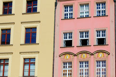 Colorful, historical Market square tenements.Lower Silesia, WROCLAW, Europe. Royalty Free Stock Photography