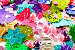 Colorful hobby decorations Stock Photography