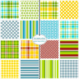 Seamless Background Patterns - Hodgepodge (Boys) Stock Images