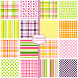 Seamless Background Patterns - Hodgepodge (Girls) Royalty Free Stock Photo