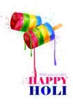 Colorful Holi background Stock Photography