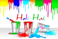 Colorful Holi Background Stock Photography