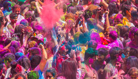 Colorful holi celebration. royalty free stock photo