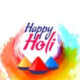 Colorful holi festival background design. Illustration Stock Image