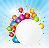 Colorful holiday background with balloons. Vector Royalty Free Stock Photography
