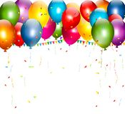 Colorful holiday background with balloons. Stock Photo