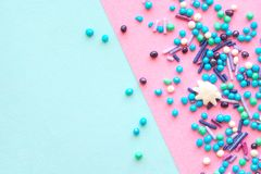 Colorful celebration background with candy. royalty free stock photos
