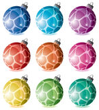 Colorful holiday balls Royalty Free Stock Photos