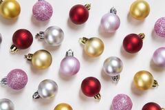 Holiday baubles royalty free stock images