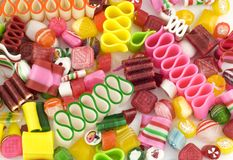 Colorful Holiday Candy Background royalty free stock photography