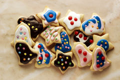 Colorful holiday cookies Royalty Free Stock Photography