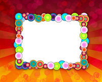Colorful Holiday Frame Royalty Free Stock Photography