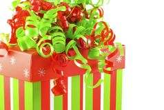 Colorful Holiday Gift Box Stock Images