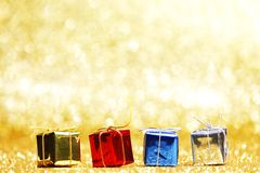 Colorful holiday gifts Royalty Free Stock Photography