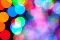 Colorful Holiday Lights Create Bokeh Background Royalty Free Stock Photography