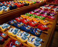 Colorful Holland clogs Stock Photos