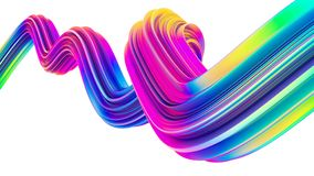 Free Colorful Holographic 3d Flow Shape Liquid Wave For Modern Christmas Backgrounds And Posters Stock Image - 125446751