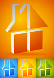 Colorful home, house icons, logos to illustrate real estate, Royalty Free Stock Images