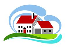 Colorful home icon Royalty Free Stock Photography