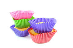 Colorful home made cupcakes Royalty Free Stock Image