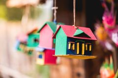 Colorful home model stock photography
