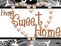 Colorful Home sweet home background Stock Images