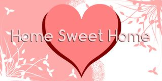 Colorful Home sweet home background Stock Image