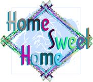 Colorful Home sweet home background isolated Royalty Free Stock Image