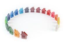 Colorful home symbols Stock Photos
