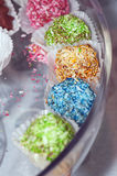 Colorful homemade candy Stock Images