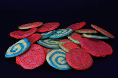 Colorful homemade cookies Royalty Free Stock Photography